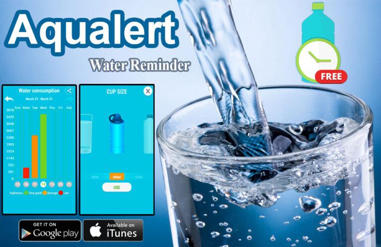 تطبيق يذكرك بشرب الماء