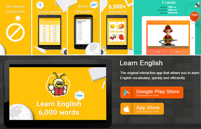 تطبيق لتعليم اللغة الإنجليزية